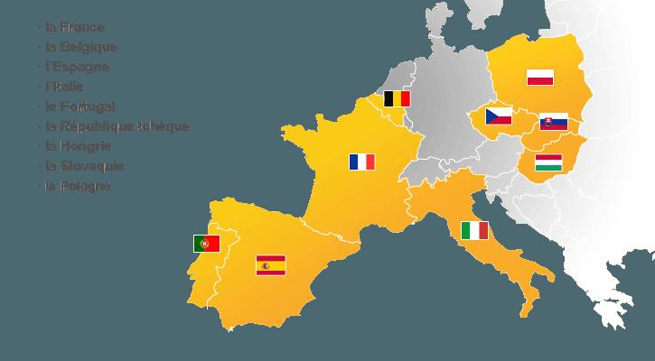 Carte Europe Latine.Societe De Credit Basee En Europe Cofidis A L International